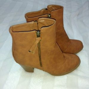 Lane Bryant Chunky Brown Booties size 10